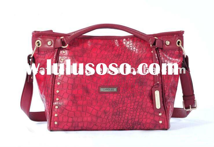 2012 New leather animal print handbags