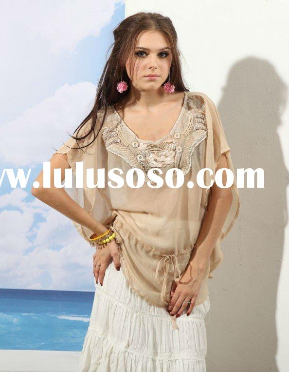 2012,Spring new collection fashion design ladies clothing/blouses&tops