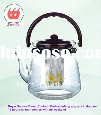 2200ml Heating Direct Glass Teapot Tea Pot Tea Pots with Stainless steel Strainer