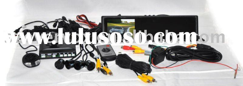 3.8 inch car side mirror camera monitor with parking system