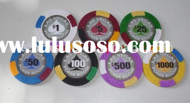 4-Tone 3 Tab Clay Poker Chip