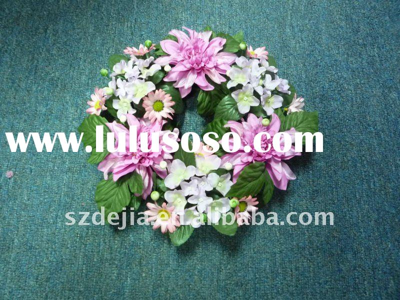 6.25'' Garland Decorative Artificial Flower Wreath for Spring Decorations