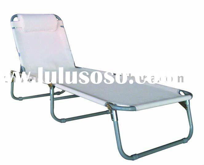 Alu foldable poolside lounger sun lounge beach lounge