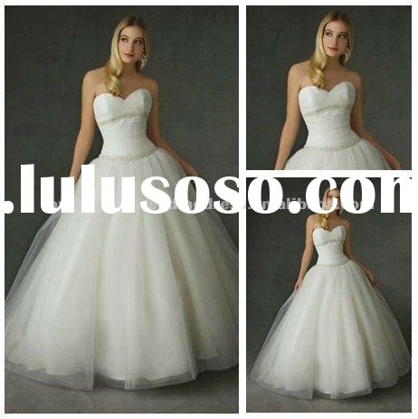 Best Selling Ball Gown Ivory Tulle Bridal Wedding Gown 2011