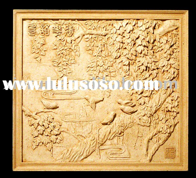 Chinese decorative artificial sandstone relief carving