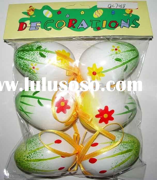Colored painting easter eggs