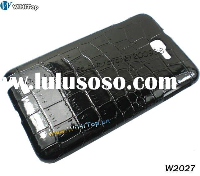 Crocodile Skin Case for Galaxy Note, For Samsung i9220 Leather Case Back Cover