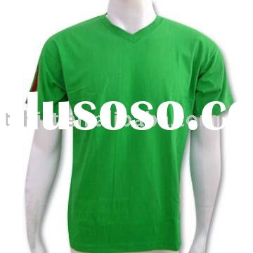 Customized wholesale pure cotton green Bulk blank t-shirt
