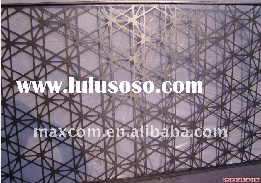 Decorative aluminum partition wall