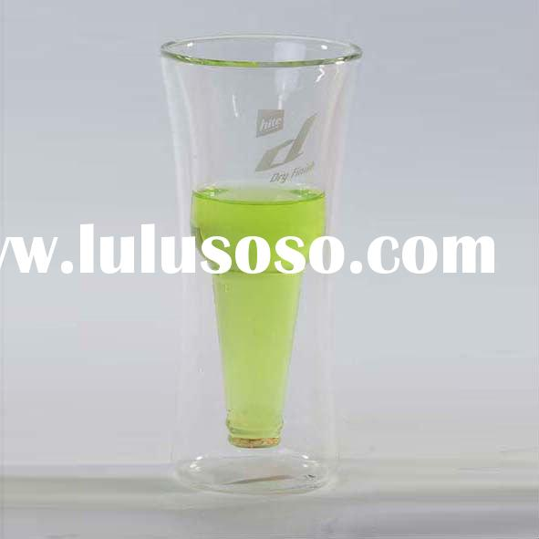 Double Wall Drinking Glasses,clear high quality double wall glass