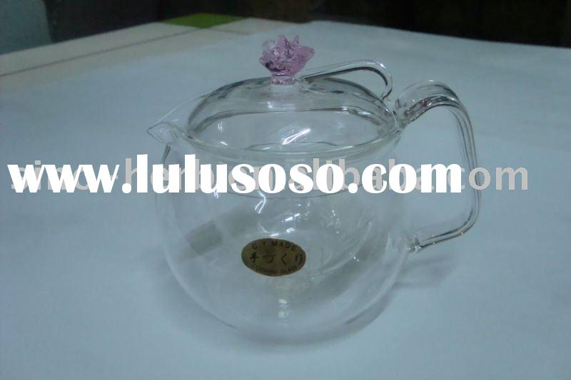 Double-walled Glass Teapot,Happy tea time