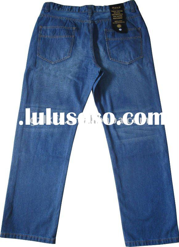 Fat Man's fashion jeans with plus size
