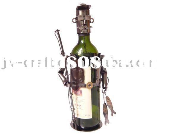 Fishman Metal Craft Fishing wine bottle holder