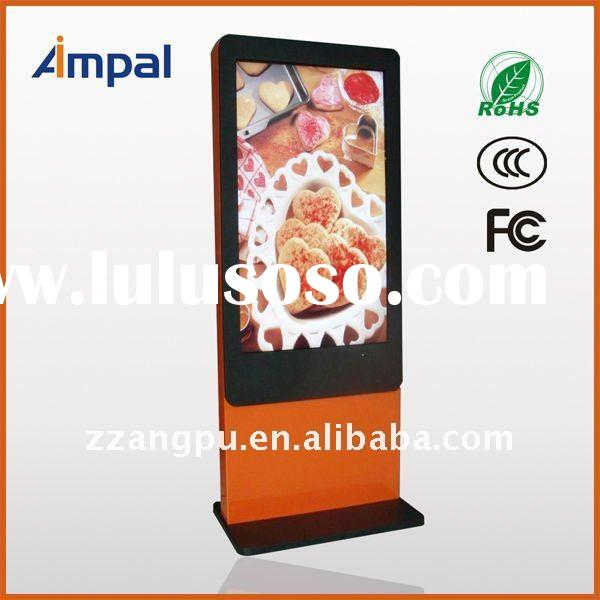 Free standing 55 inch advertising kiosk with touch screen
