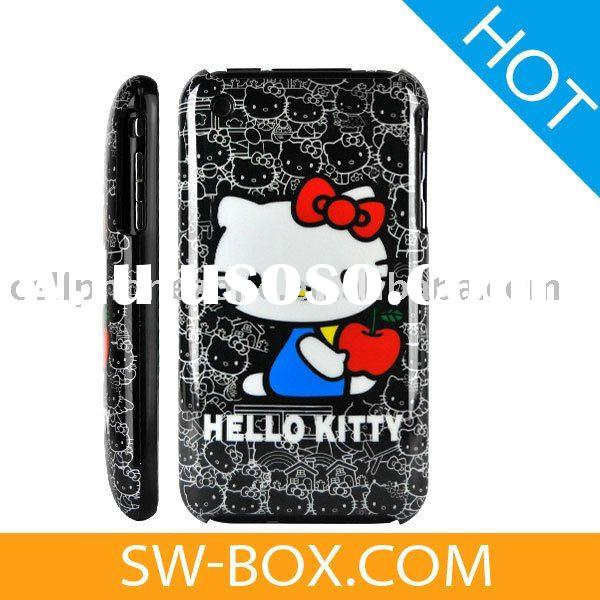 Hello Kitty Hard Plastic Case Cover for Apple iPhone 3GS iPhone 3G (Black) /for iphone case