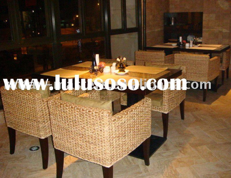 Hot sale popular seagrass dining sets/restaurant furniture