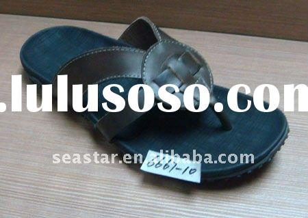 Leather arabic leather sandals,leather slippers for men (6667-10)
