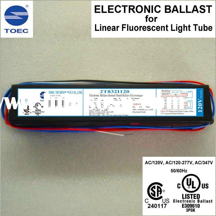 Linear Fluorescent Lamp Tube T8 Electronic Ballast(UL, CSA Listed)