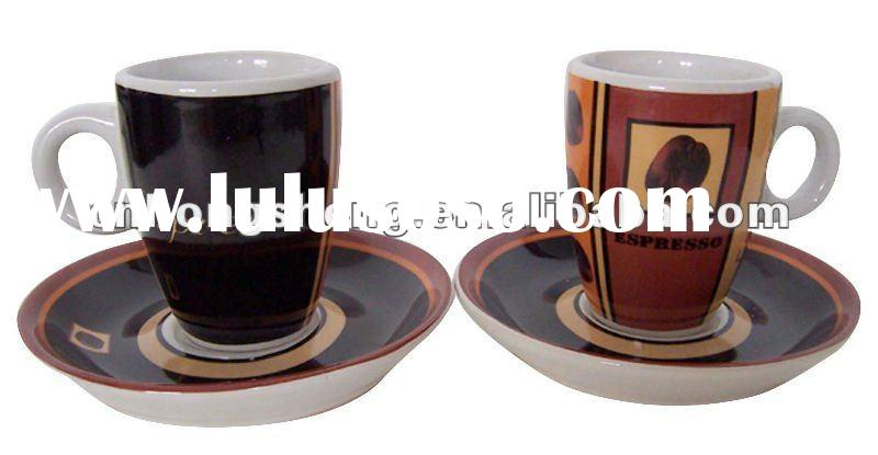 Mini Porcelain Coffee Mug with Saucer for Espresso Mug Set