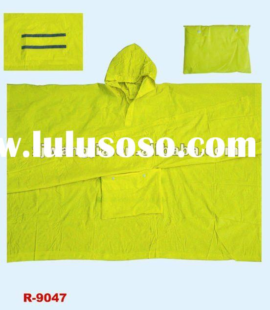 NEON yellow PVC rain cape