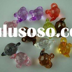 New style Assorted Transparent Acrylic Teapot beads