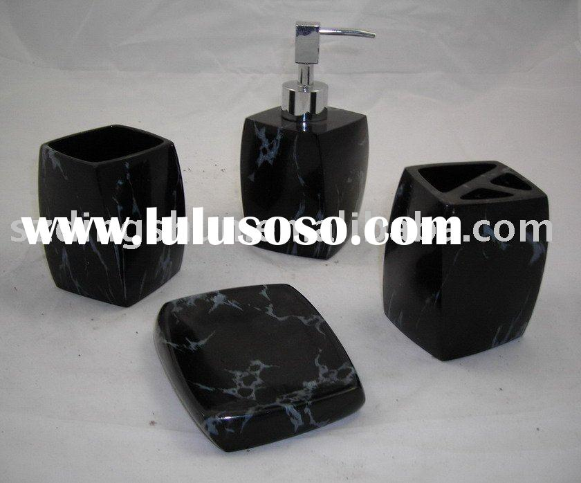 marble bathroom accessory set for sale price china