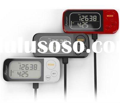 Promotions Gift Professional Sport Digital 3D Sensor USB Pedometer Multi Function Step Counter