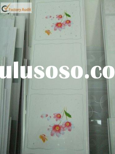 Red flower design for decorative pvc ceiling for kitchen ( CZ 0247)