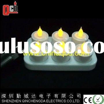 Remote Control Rechargeable Tea Light Candle 6 PK