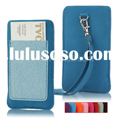 Vertical Leather Pouch with Strap for iPhone 4S 4 3GS 3G 2G iPod Touch Series And Other Mobile Phone