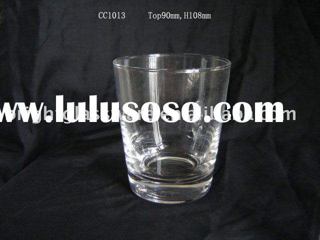 Votive shot glass candle cup/candle holder