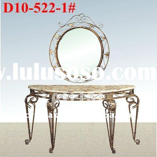 Wrought iron garden furniture console table (D10#-522-1#)