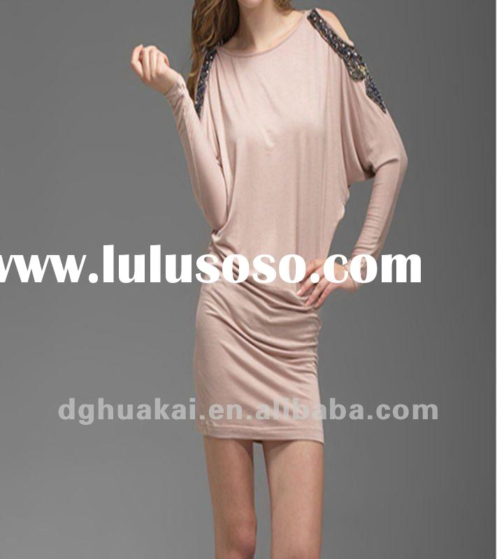 lady casual dress designer one piece dress hot selling short designer one piece formal polyester dre