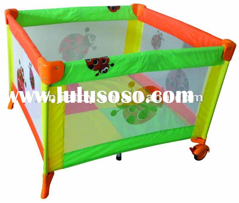 nice printing large size multi color playpen/baby crib/travel cot