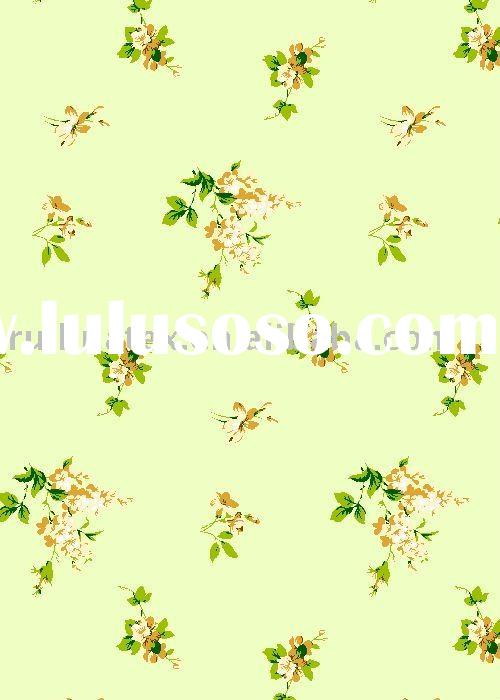polyester/cotton floral printed fabric