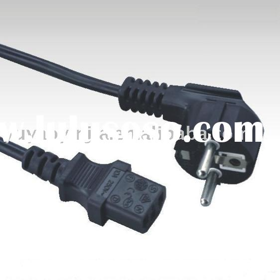 power supply lead Right angle European power cable schuko plug power cord euro type