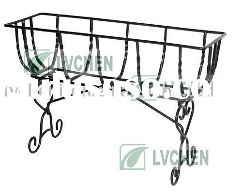 wrought iron Flower pot Stand,manger plant pot stand,deck trough flower pot