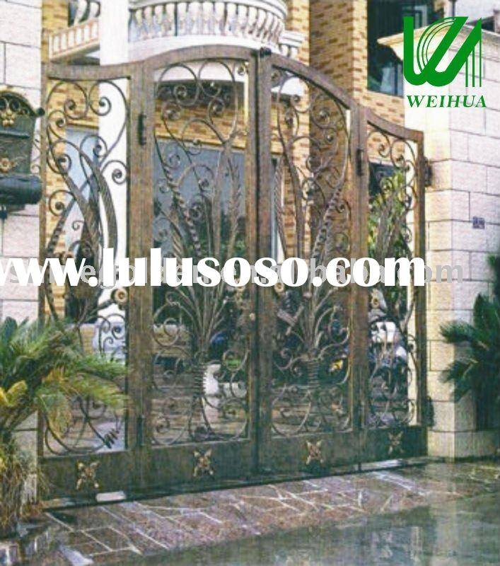 2011 New design modern garden artistic wrought iron gate,steel gate,gate