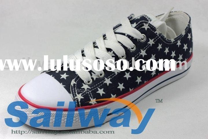 2011 collection New Low Top Canvas Sneakers Men Shoes All Sizes Star Print