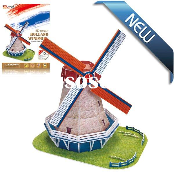 3D Jigsaw Puzzles Educational Toys FPB Paper brain teasers Games Holland windmill