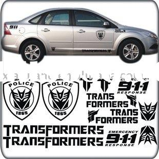 Die cut Large and Cool Car Body Sticker