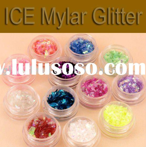 Ice Mylar Glitter For Acrylic UV Gel Nail Assorted Colors AVAILABLE