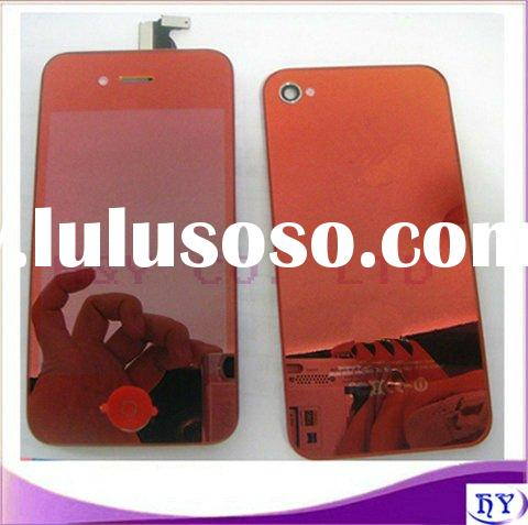 New shiny full red mobile phone repair parts for iphone 4 4g lcd touch screen digitizer