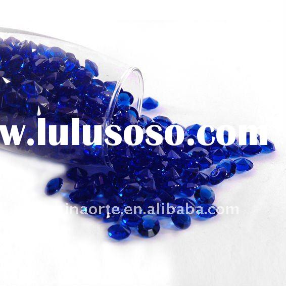 Royal Blue Diamond Scatter Crystals for Wedding Table Decoration