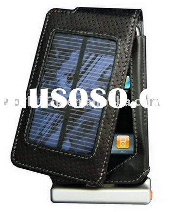 Solar Battery Charger & Leather case for iphone 3g (New&Hot)