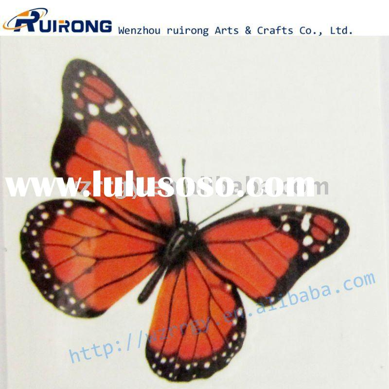 adult body elegant temporary butterfly tattoo sticker