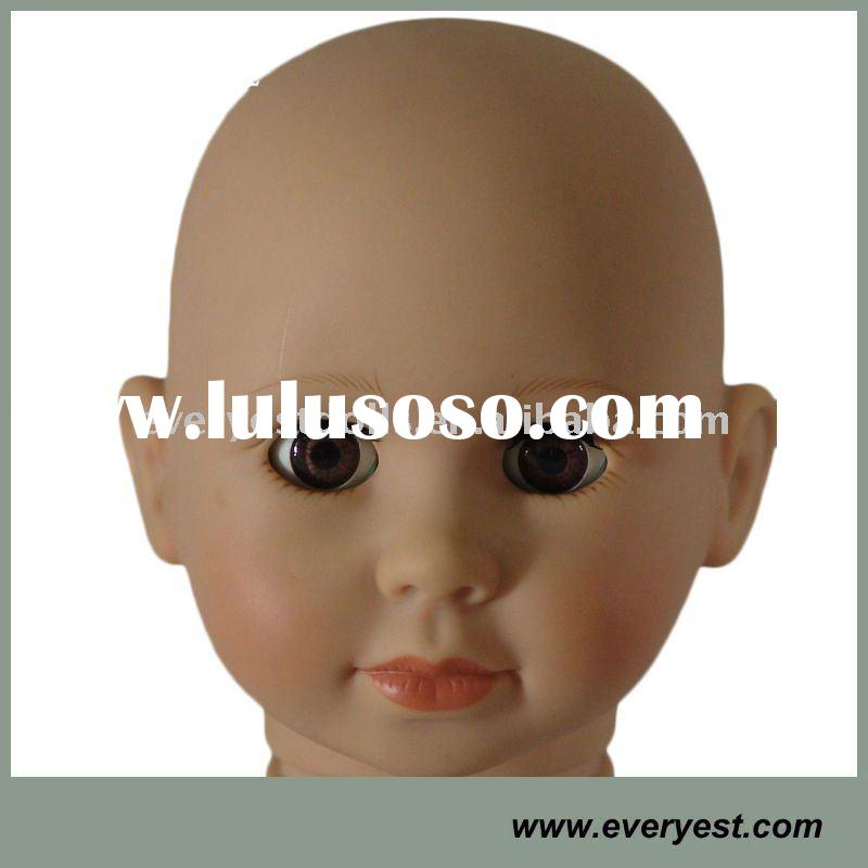 """18"""" american girl doll kits of head with open/close eyes"""