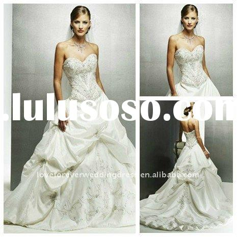 2011 Best Selling Enbroideried Satin Wedding Bridal Gowns