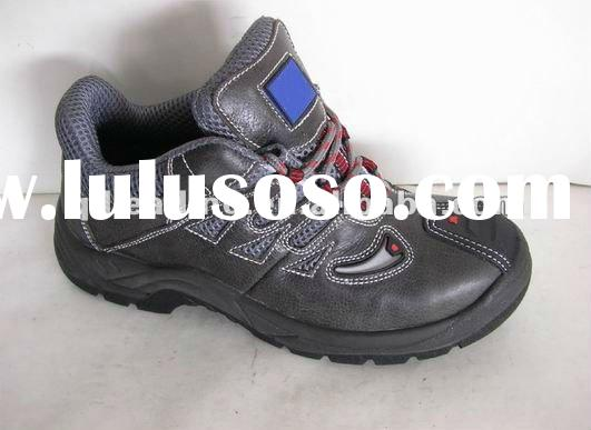 2012-0305H factory worker crazy horse leather PU outsole safety shoes