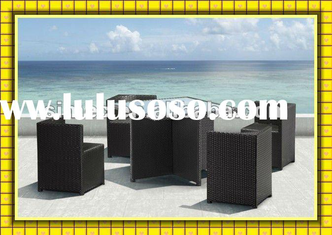 2012 factory hot sale cheap price patio wicker rattan dining set outdoor table chairs garden dinner